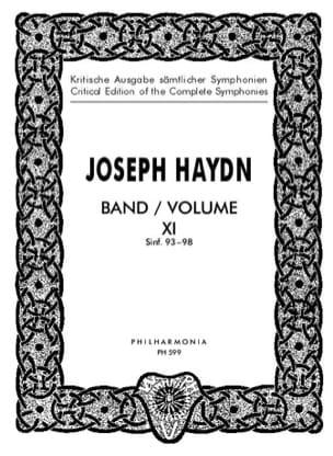 Edition Complete Symphonies Volume 11 93-98 - Score HAYDN laflutedepan