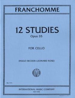 12 Studies op. 35 - Cello Auguste Franchomme Partition laflutedepan