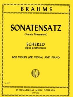 Sonatensatz - Viola BRAHMS Partition Alto - laflutedepan