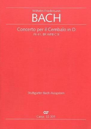 Concerto per il Cembalo in D Fk 41 / br wfb c 9 - Conducteur laflutedepan