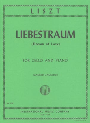 Liebestraum Dream of Love - Cello piano LISZT Partition laflutedepan
