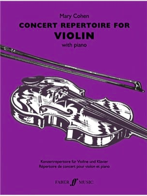 Concert Repertoire for Violon Mary Cohen Partition laflutedepan