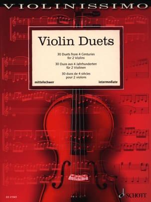 Violin Duets - Intermediate Partition Violon - laflutedepan