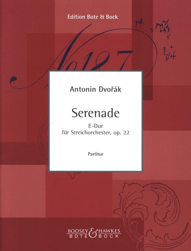 Serenade E-Dur op. 22 - Partitur - DVORAK - laflutedepan.com