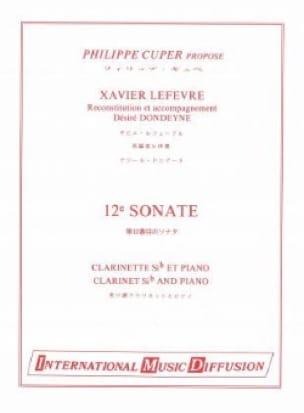 Sonate n° 12 pour clarinette - Xavier Lefevre - laflutedepan.com
