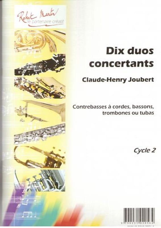 10 Duos concertants - Claude-Henry Joubert - laflutedepan.com