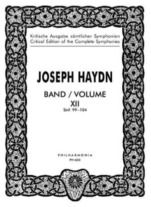 HAYDN - Complete Edition Symphonies Volume 12 99-104 - Score - Partition - di-arezzo.es