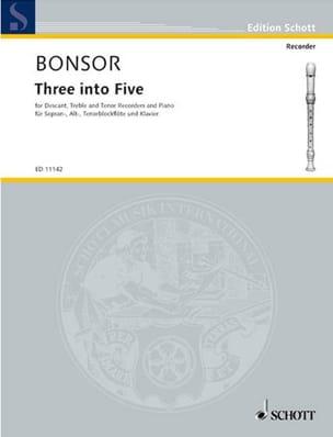 Three into five - descant, treble, tenor recorders piano laflutedepan