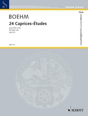 24 Caprices-Etudes op. 26 pour flûte seule Theobald Boehm laflutedepan