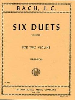6 Duets, Volume 1 Johann Christian Bach Partition laflutedepan