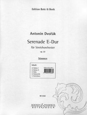 Sérénade E-Dur op. 22 - Stimmen DVORAK Partition laflutedepan