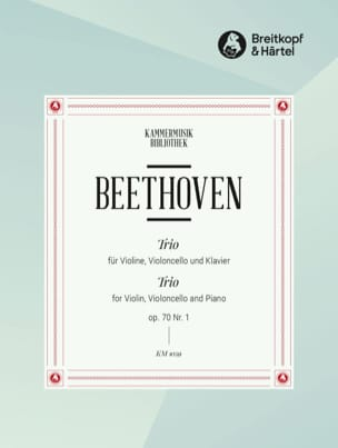 BEETHOVEN - Klaviertrio op. 70 n ° 1 D-Dur - Partition - di-arezzo.com