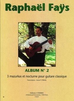 Album N°2 - 3 Mazurkas et Nocturne Raphael Fays Partition laflutedepan
