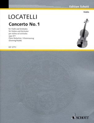 Concerto op. 3 n° 1 en ré majeur LOCATELLI Partition laflutedepan