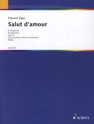 Salut D'amour Op.12 Trio cordes ELGAR Partition Trios - laflutedepan