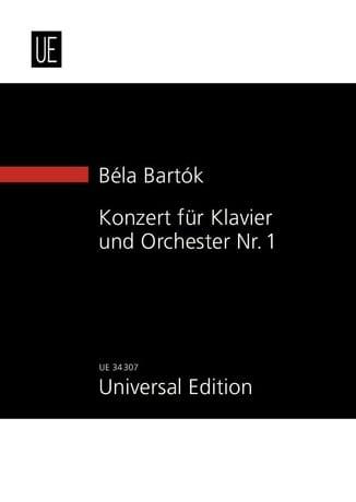 Concerto Pour Piano et Orchestre N° 1 - BARTOK - laflutedepan.com