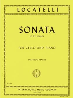Sonate en ré majeur LOCATELLI Partition Violoncelle - laflutedepan