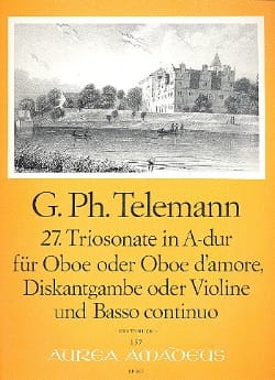 Triosonate Nr. 27 in A-Dur -Oboe Oboe d'amore Diskantgambe Violine Bc - laflutedepan.com