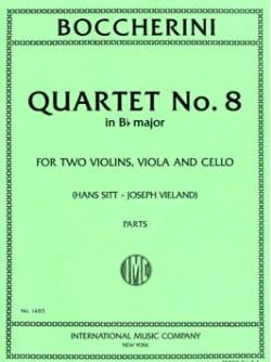 Quartet n° 8 B flat major - Parts - BOCCHERINI - laflutedepan.com