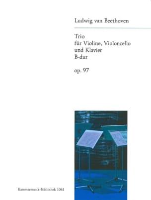 BEETHOVEN - Klaviertrio op. 97 B-Dur - Stimmen - Partition - di-arezzo.com