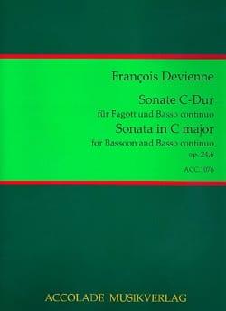 Sonate Op. 24 N° 6 en Do Majeur - DEVIENNE - laflutedepan.com
