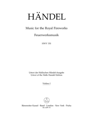 Music for the Royal Fireworks HWV 351 HAENDEL Partition laflutedepan