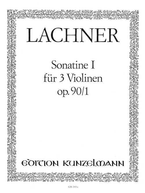 Sonatine op. 90 n° 1 - Ignaz Lachner - Partition - laflutedepan.com