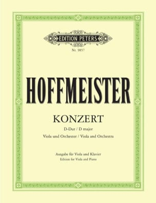 Concerto D major - Viola HOFFMEISTER Partition Alto - laflutedepan
