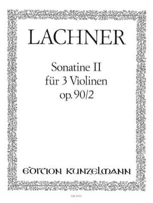 Sonatine op. 90 n° 2 Ignaz Lachner Partition Violon - laflutedepan