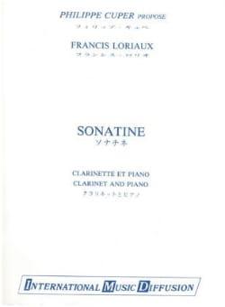 Sonatine Francis Loriaux Partition Clarinette - laflutedepan