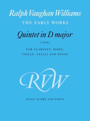 Quintet in D major 1898 -Score + parts WILLIAMS VAUGHAN laflutedepan