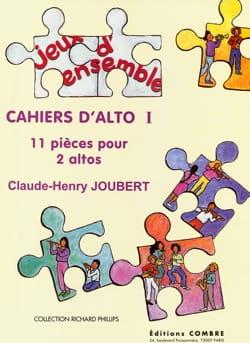 Cahiers D'alto 1 Claude-Henry Joubert Partition Alto - laflutedepan