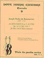 34 Movements in 5 Suites op. 31 - Volume 1 BOISMORTIER laflutedepan