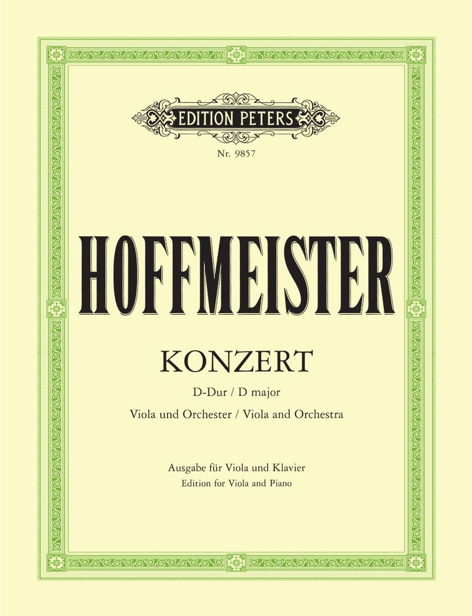 Concerto D major - Viola - HOFFMEISTER - Partition - laflutedepan.com