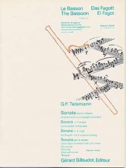 Sonate en fa mineur - Basson TELEMANN Partition Basson - laflutedepan