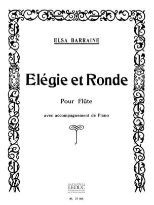 Elegie et Ronde Elsa Barraine Partition laflutedepan