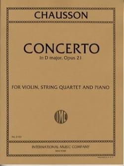 Concerto in D major op. 21 -Violin, string quartet piano laflutedepan