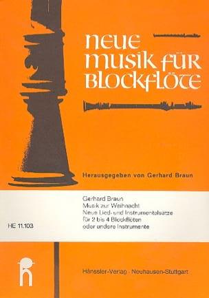 Musik zur Weihnacht - 2 bis 4 Blockflöten Gerhard Braun laflutedepan