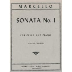 Sonate n° 1 Benedetto Marcello Partition Violoncelle - laflutedepan