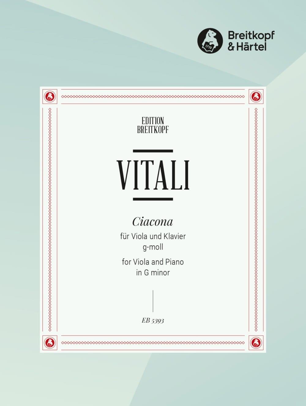 Ciaccona g-moll - Viola - Tommaso Antonio Vitali - laflutedepan.com