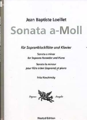 Sonate en la mineur - fl. à bec soprano piano - laflutedepan.com