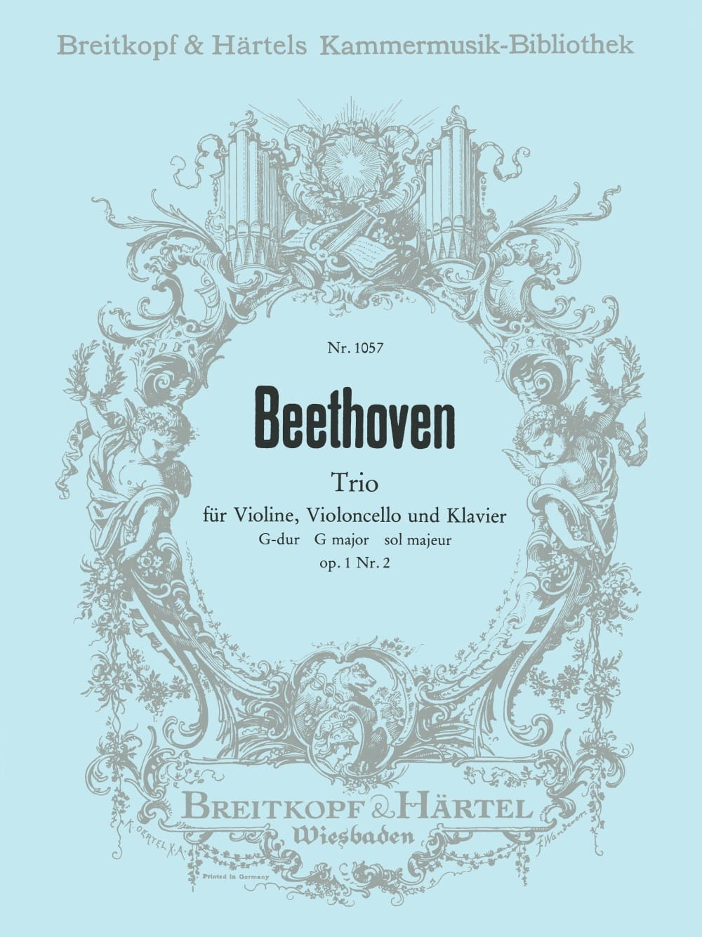 Klaviertrio op. 1/2 G-Dur -Stimmen - BEETHOVEN - laflutedepan.com