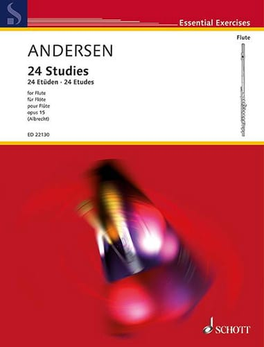 24 Etudes, op. 15 - Flûte - ANDERSEN - Partition - laflutedepan.com