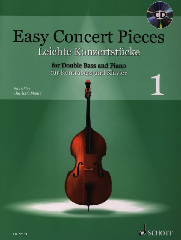 Easy Concert Pieces 1 - Contrebasse et Piano - laflutedepan.com