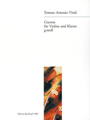 Ciacona g-moll - Violine Tommaso Antonio Vitali Partition laflutedepan