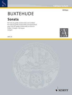 Sonata D-Dur - Viola da gamba BUXTEHUDE Partition laflutedepan