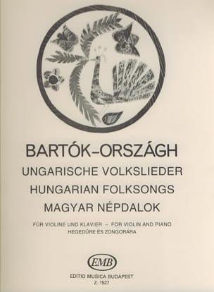 BARTOK - Ungarische Volkslieder - Violine Klavier - Partition - di-arezzo.it