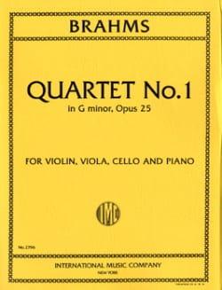 Quartet n° 1 G minor op. 25 -Parts - BRAHMS - laflutedepan.com