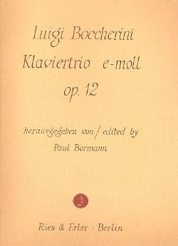 Klaviertrio e-moll op. 12 -Stimmen BOCCHERINI Partition laflutedepan
