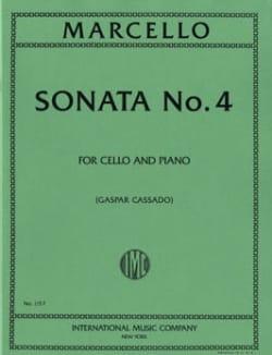 Sonate n° 4 Benedetto Marcello Partition Violoncelle - laflutedepan